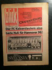 BL 66/67 Hannover 96 - 1. FC Kaiserslautern, 17.12.1966