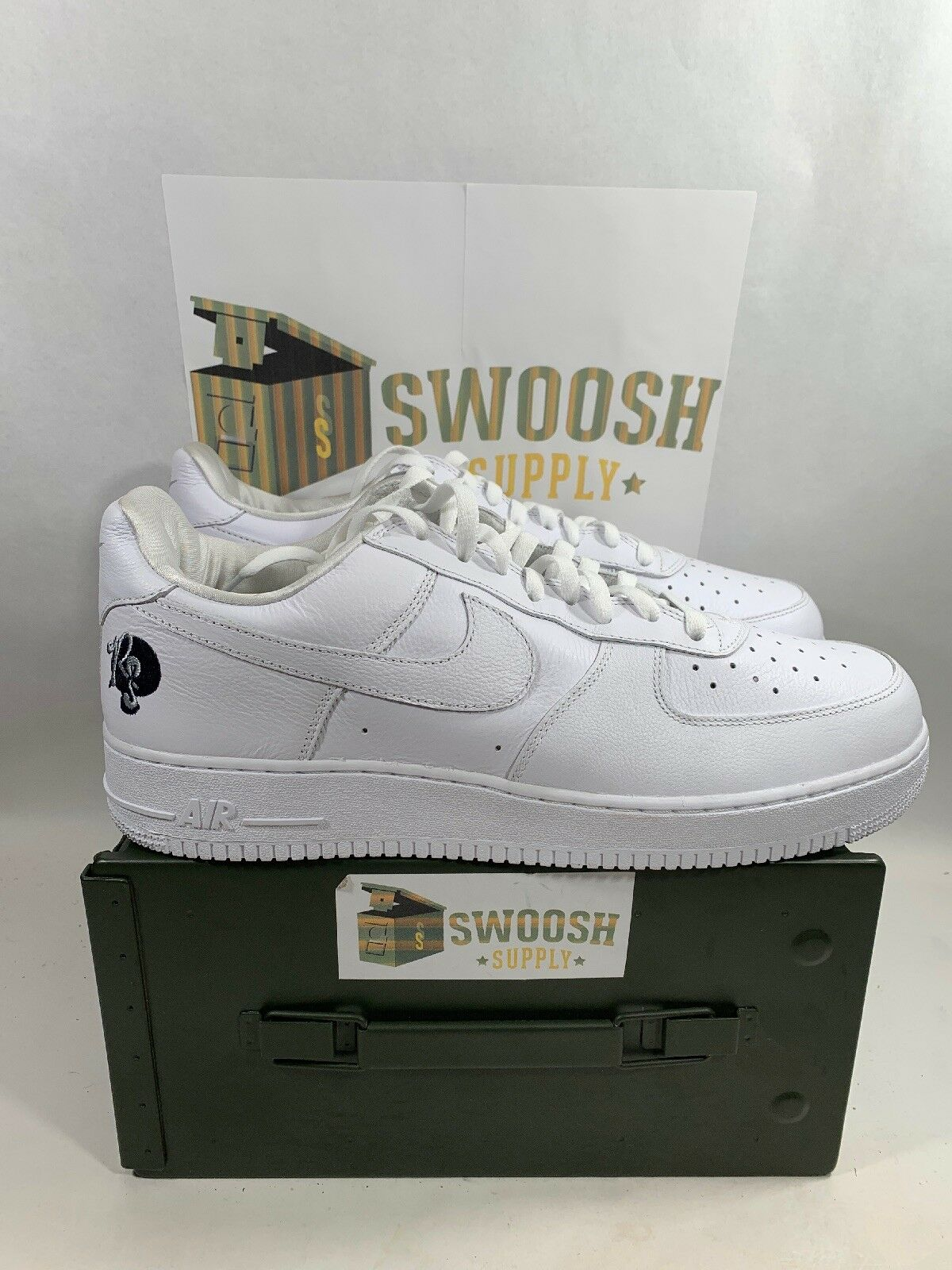 Nike Air Force 1 '07 Rocafella Mens AO1070-101 White Leather Low shoes Size 14