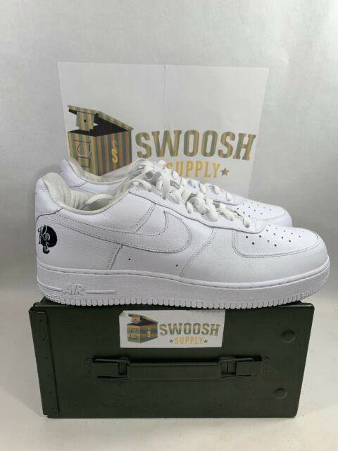 buy online fef57 3f364 Nike Air Force 1  07 Rocafella Mens AO1070-101 White Leather Low Shoes Size