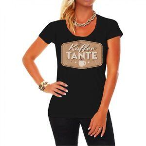 Frauen T Shirt Kaffeetante Lustig Spass Beruf Kellnerin Sekretarin