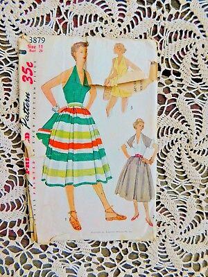 50s Simplicity 3879 Halter Top Shorts Pattern