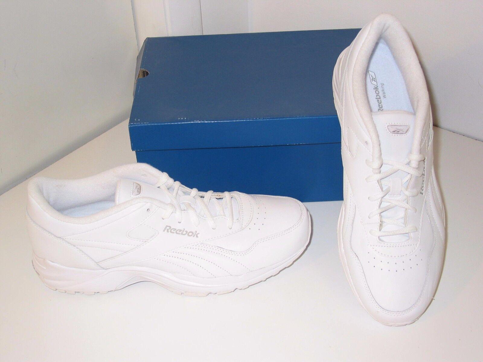 Reebok Comfort Deluxe DMX Walking WEISS Leder Casual Sneakers Schuhes Damenschuhe 12