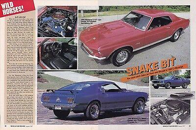 1969 Ford Mustang Mach 1 GT Full Range Color Brochure Catalog  Prospekt