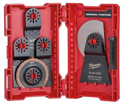 Brand New Milwaukee 9-Piece Oscillating Multi-Tool Blade Kit /& Case 48-90-1009
