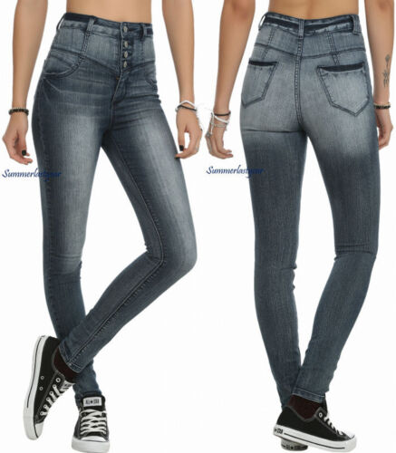 Cello taille Medium jeggings Jeans Blue stretch haute xApOqSwx