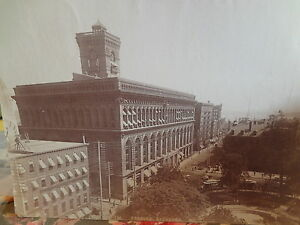 Rare-Original-1880s-Produce-Exchange-NYC-New-York-City-Albumen-Photograph