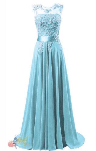 Bridesmaid Dress Chiffon Long Evening Wedding Party Ball Gown  Dresses UK 10-24