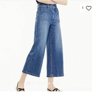 J. Crew Point Sur Wide Leg Crop Jeans Size 26P NWT