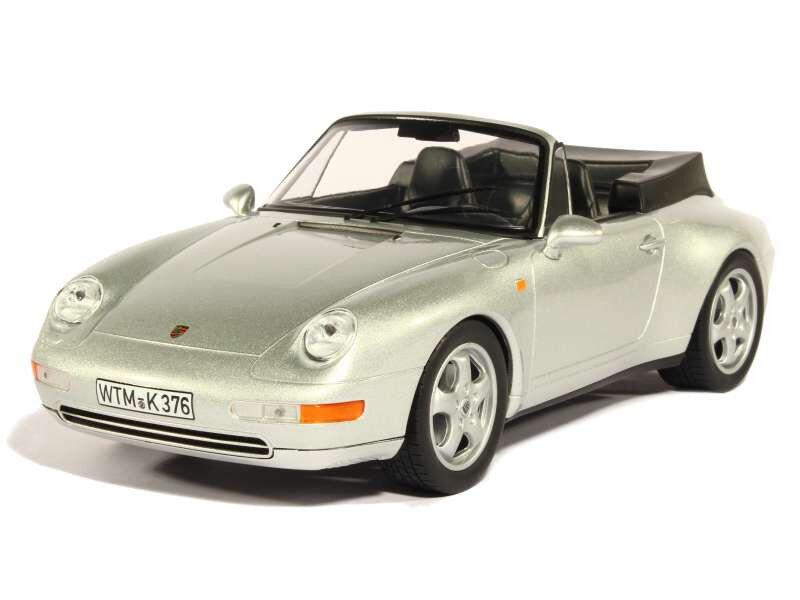 NOREV187592 - Voiture cabriolet PORSCHE 911 Carrera 1994 Coloreee argento métal  -