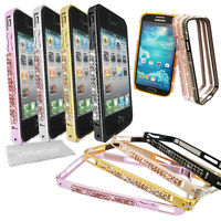 Bling Diamond Diamante Gem Crystal Metal Bumper Case Cover For Mobile Phones