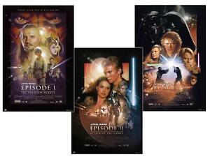 Star-Wars-Episode-I-III-Poster-3er-Set-61-x-91-5-cm-Filmposter-Plakat-Wandbild