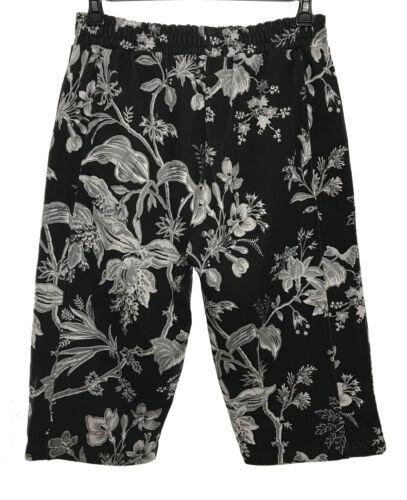 MCQ ALEXANDER MCQUEEN Mens Gray Black Floral Print Casual Sweat Shorts S M L XL
