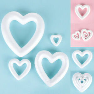Wedding-Decor-Heart-Foam-Mould-Styrofoam-Valentine-039-s-Day-White-Craft-Balls