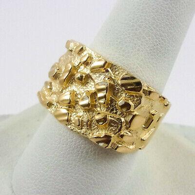 X4053 Vintage 10K Yellow Gold Diamond Nugget Ring