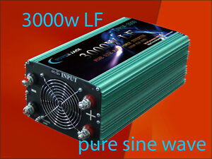 Home Improvement 12000w Peak 3000w Low Frequency Pure Sine Wave Power Inverter 24v Dc/110vac 60hz