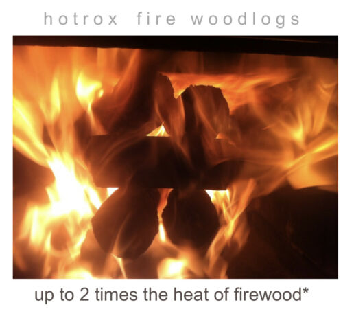 Hotrox 100/% Eco-Friendly Alternative to Firewood Heating and BBQ LOGS
