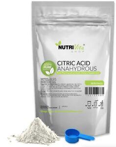 25 lbs 100% PURE CITRIC ACID ANHYDROUS -KOSHER/PHARMA<wbr/>CEUTICAL USP32 GRADE