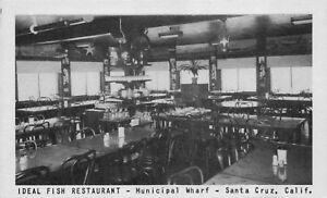 Details About Postcard Ideal Fish Restaurant In Santa Cruz California 118814