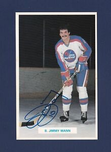 sneakers for cheap 95c7a 1ac0c Details about Jimmy Mann signed Winnipeg Jets team issued hockey postcard