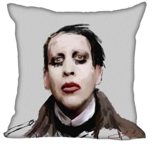 45x45cm //50x50cm Custom Pillowcase Marilyn Manson Square Zipper Pillow Cover Y03