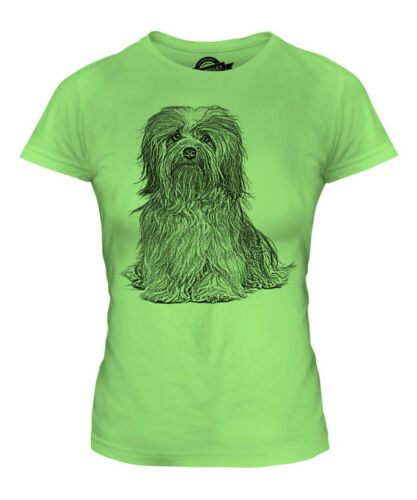 HAVANESE SKETCH LADIES PRINTED T-SHIRT TOP GREAT GIFT FOR DOG LOVER HAVANESER