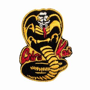 """Cobra Kai """"No Mercy"""" Inspired Martial Arts Ku Embroidered Patch Iron On Badge"""