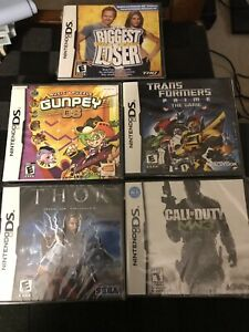 Lot-Of-5-Nintendo-DS-Games-Sealed-Thor-Transformers-Call-Of-Duty-MW3-Gunpey