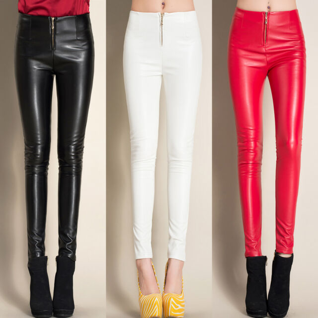 Très pantalon slim simili cuir collection on eBay! AE72