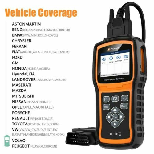 FOXWELL NT530 for FIAT 500 Multi-System Diagnostic OBD2 Code Fault Scanner
