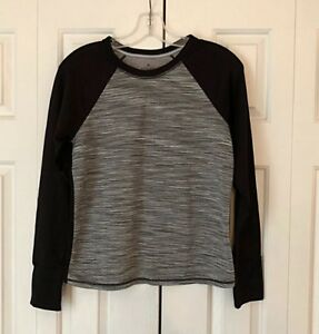 Details about Athleta Snowscape Quilted Pullover Sweatshirt BlackGray Sz S