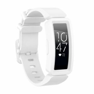 Soft Silicone Band Wistband For Fitbit Inspire HR/Inspire/Ace 2 Tracker White