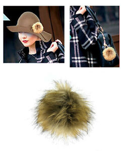 Faux Fur Pom-Pom Pin BC-MP-1NT