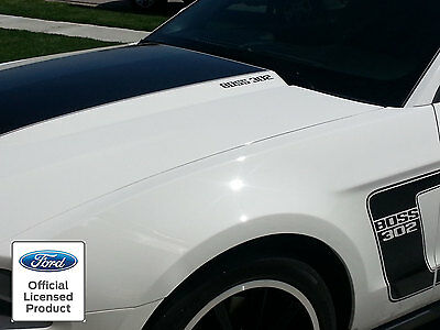2010-2014 FORD MUSTANG BOSS 302 HOOD DECALS GRAPHICS - FORD LICENSED STICKERS