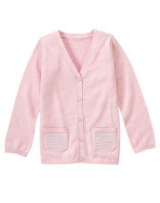Gymboree TRES FABULOUS Black Pink Cardigan Sweater NWT 5 6 Fall Winter Girls