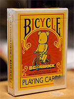 BICYCLE BEARBRICK DECK yellow playing cards japanese Medicom toy bear brick