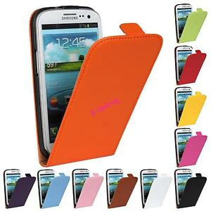 LEATHER-Flip-Case-Cover-Pouch-For-Samsung-Galaxy-Model