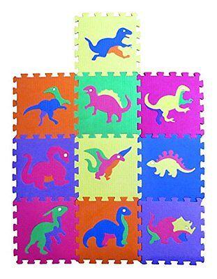 "Blocks, Tiles & Mats Dinosaur Zoo Foam Puzzle Floor Mat For Kids 10 Piece 12""x12"" Squares Blocks Without Return"