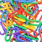 100PCS Plastic C Clips Hooks Chain Links for Sugar Glider Rat Parrot Bird Toy #