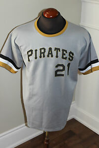 PRE-OWNED-MEN-039-S-PITTSBURGH-PIRATES-ROBERTO-CLEMENTE-21-JERSEY-SIZE-X-LARGE-XL