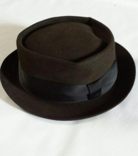 Vintage Mallory Pork Pie Style Felt Hat Size 7 1/8 - image 1