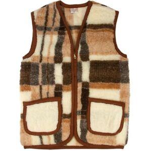 Women-039-s-Vest-100-Wool-Vest-Warm-and-Cozy