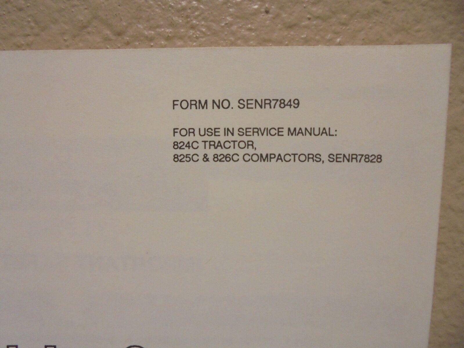 Tractor De Oruga 824C 825C 826C manual de de de montaje Compactador dissassembly 11c747