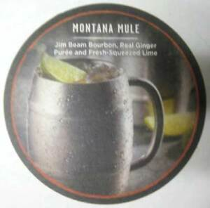 Montana Mule W Jim Beam Bourbon 4 Inch Whiskey Coaster