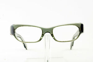 5a7c5638a1d9 VINTAGE 1960 s CLEAR GREY EYEGLASS FRAMES HAND MADE NOS DEADSTOCK ...