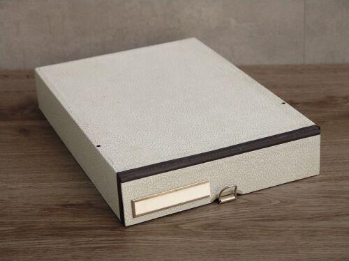 #430-1//6-50er Jahre Aktenablage Schuber A4 Dokumentenablage grau