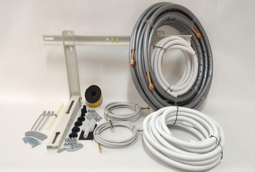 Kit montaggio condizionatore climatizzatore 7 metri 1 4 3 8 full optional
