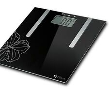 Flora Body Scale Digital Bathroom Weight Fat and Water Analysis slim glass PLS