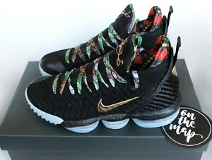 34260ebf3a0e8 Nike Lebron 16 XVI KC King s Watch The Throne Black Gold UK 5 6 7 8 ...