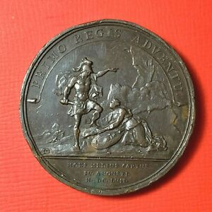 4908-Louis-XIV-Medaille-par-Jean-Mauger-PRIMO-REGIS-ADVENTU-La-Ville-de-Mont