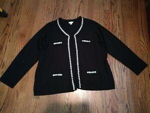 Faux Cardigan Sort Rivers Euc Pearl Knit Ruffle Joan Accenter A237316 Crystal 3x ztwgEOtxq